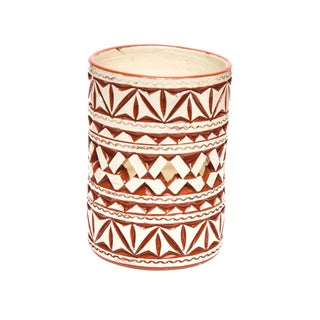 Moroccan Hand Painted White Ceramic Tealight Holder