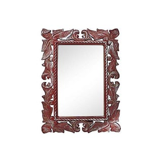 Burgundy Painted Mirror