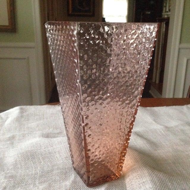 Vintage Pink Glass Hobnail Vase - Image 2 of 11