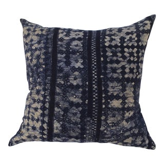 Chinese Tribal Indigo Batik Pillow