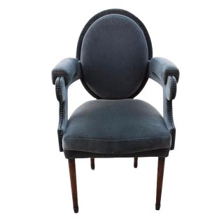 Provence Velvet Arm Chair