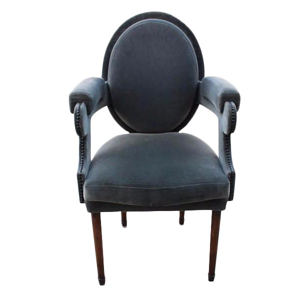 Provence Velvet Arm Chair - Image 1 of 8