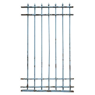 Heavy Gauge Tall Blue Iron Fencing