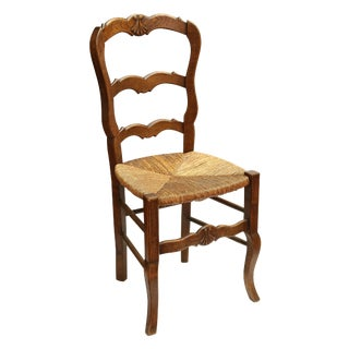 Country French Side Chair W/Rush Seat
