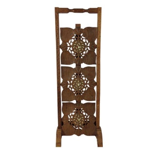 Bohemian Wooden Stand With Bone Inlay
