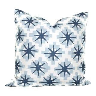 """20"""" x 20"""" Peter Dunham Blue Stars Decorative Pillow Cover"""