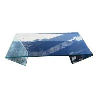 Waterfall Bent Glass Coffee Table