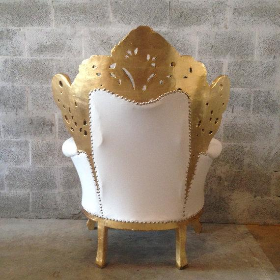 Gold and White Rococo Armchair - Image 5 of 6