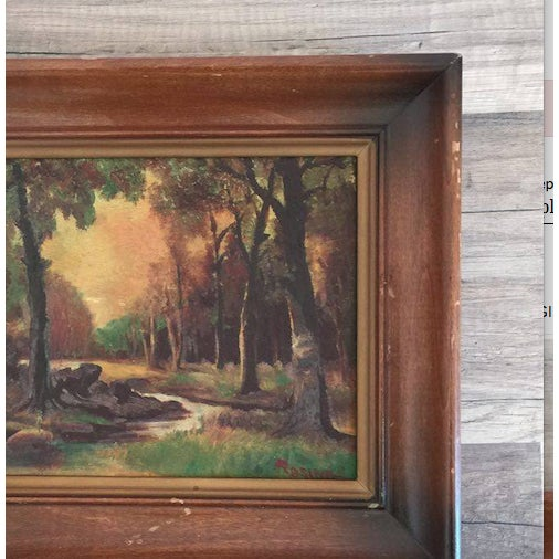 Woodsy Landscape With Sunset, Painting - Image 3 of 3