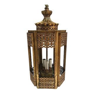 Vintage Gilt Pagoda-Style Pendant
