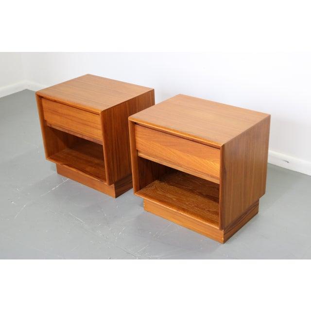Image of 1970's Danish Teak Nightstands - A Pair