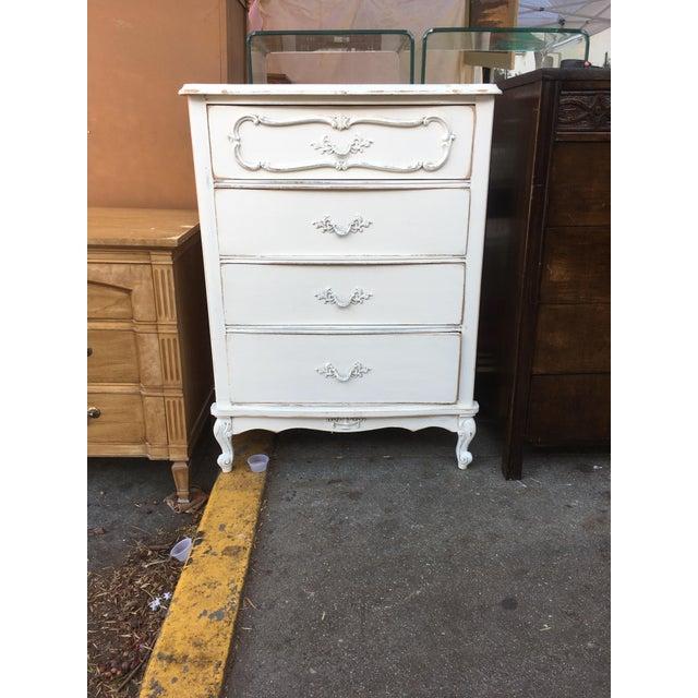 Vaisselier Shabby Chic: Shabby Chic French White Tall Dresser