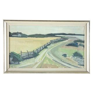 Vintage 1959 Landscape Oil Painting