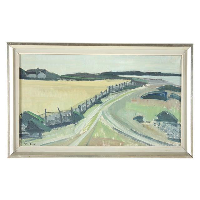 Image of Vintage 1959 Landscape Oil Painting