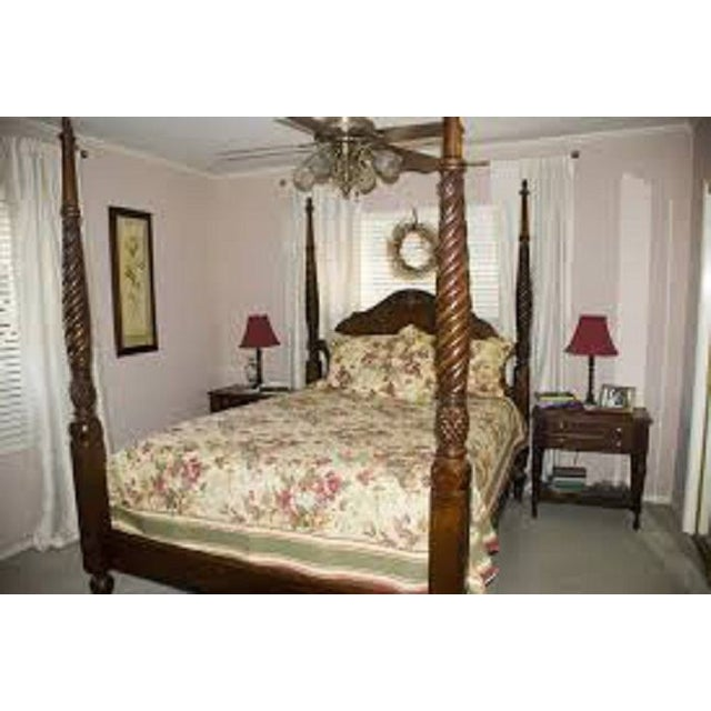Ethan allen british classic montego queen bed chairish - Ethan allen queen beds ...