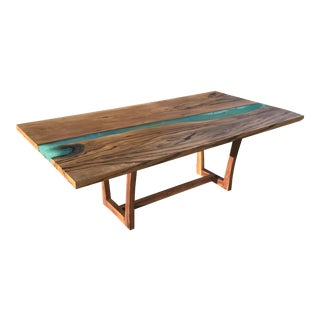 Wood & Resin River Table