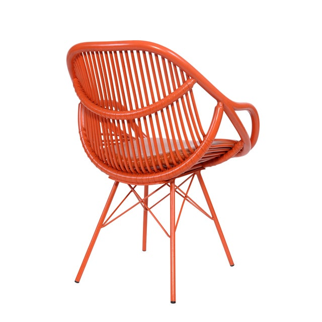 David Francis Modern Rattan Chair - Image 2 of 3