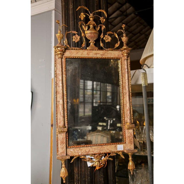 Antique 18th Century Neoclassical Marble Mirror - Image 5 of 6
