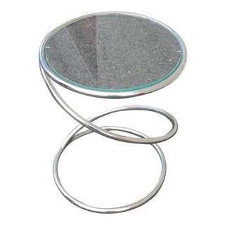Chrome Glass Spiral Table by Leon Rosen for Pace