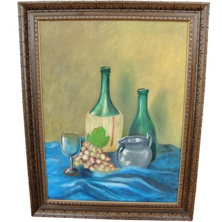 Vintage Wine Still Life by I. Curran