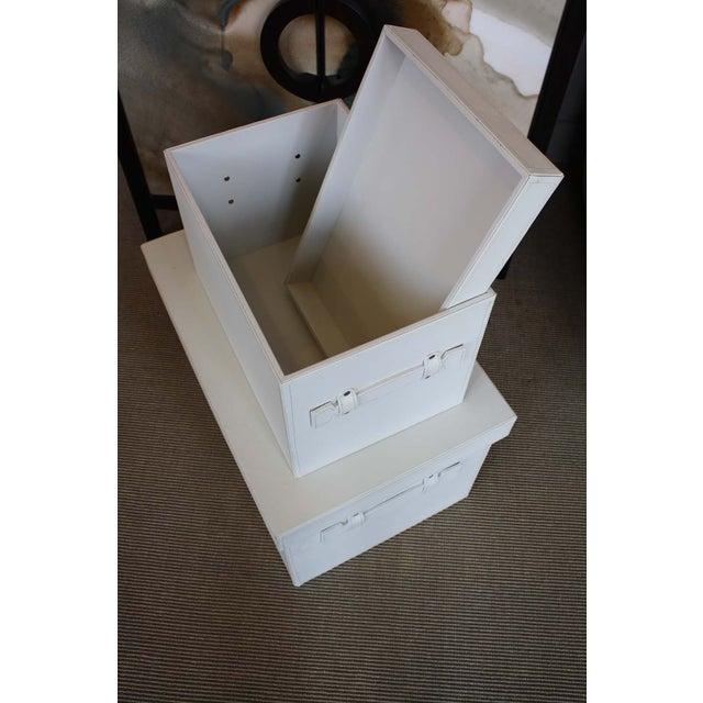White Stacking Storage Boxes - Image 3 of 4