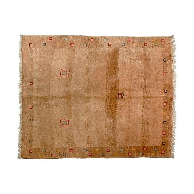 "Persian Tribal Gabbeh Rug - 4' X 4'7"" - Image 1 of 2"