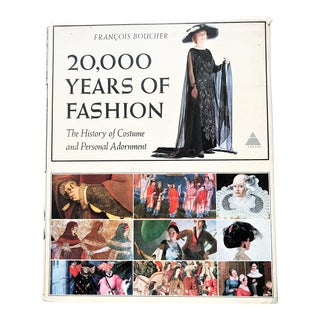 """1st Edition Hardcover Book """"20,000 Years of Fashion: The History of Costume and Personal Adornment"""""""
