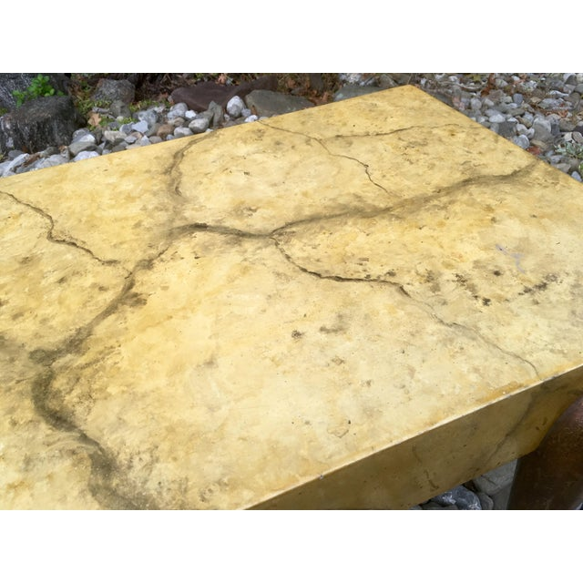 Image of Mid Century Faux Marble Coffee Table