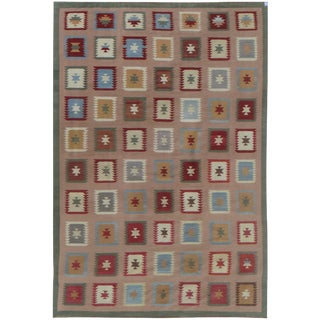 "Hand-Knotted Modern Kilim by Aara Rugs - 17'8"" x 12'1"""