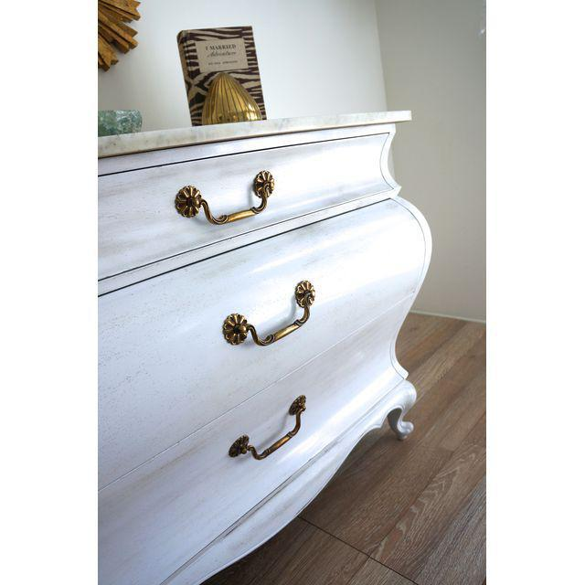 White Marble Top Commode by Grosfeld House - Image 6 of 9