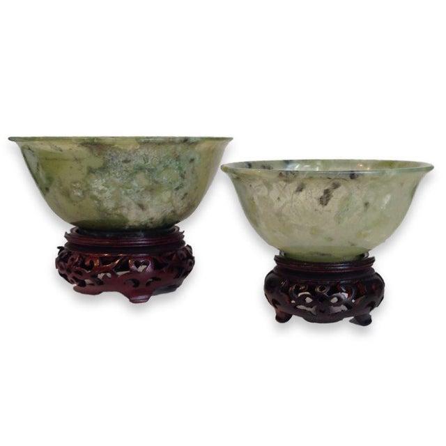 Vintage Jade Bowls - Pair - Image 2 of 4