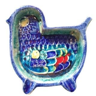 Vintage Handmade Glazed Ceramic Bird