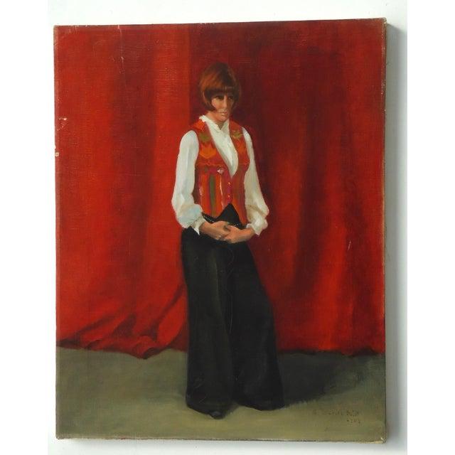 Estelle Bernstien Vintage Painting of a Woman - Image 2 of 5