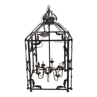 Large Black Hanging Lantern