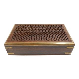 Vintage Pierced Wood Box