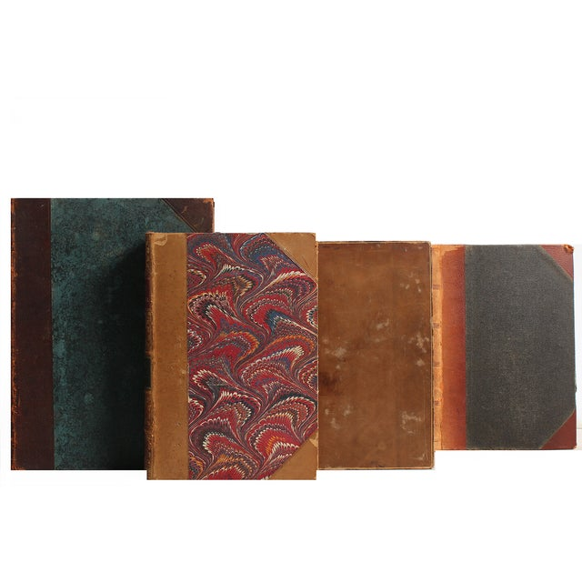 Image of Distressed Leather Books - S/18