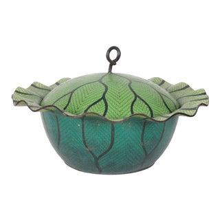 20th Century Cloisonne Cabbage Bowl