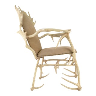 Arthur Court Aluminum Antler Chair, USA, circa 1970s