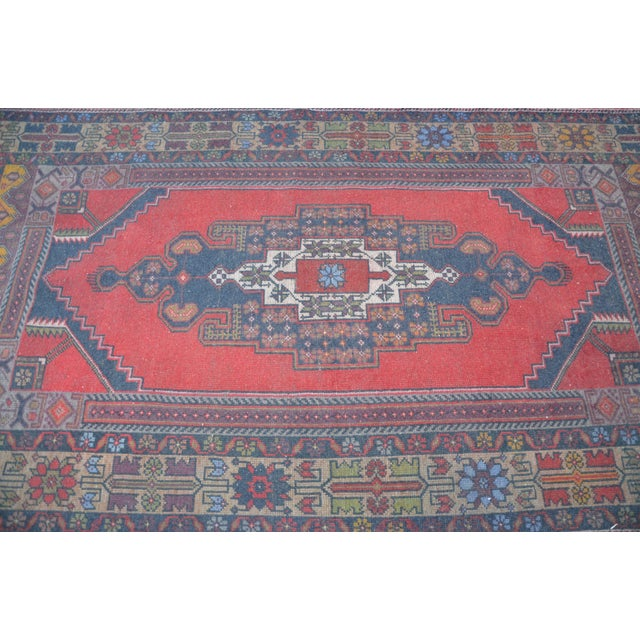 Turkish Handmade Floor Rug - 4′5″ × 8′3″ - Image 5 of 6