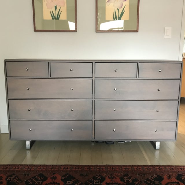 Room & Board Gray 10-Drawer Dresser - Image 2 of 7