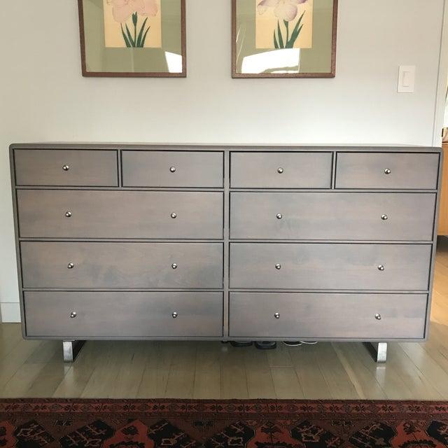 Image of Room & Board Gray 10-Drawer Dresser