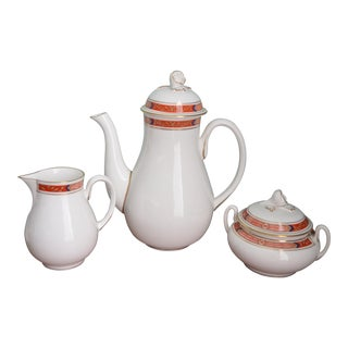 English Royal Worcester Beaufort Coffee Service - Set of 3