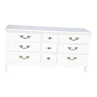 Thomasville White Nine Drawer French Style Dresser