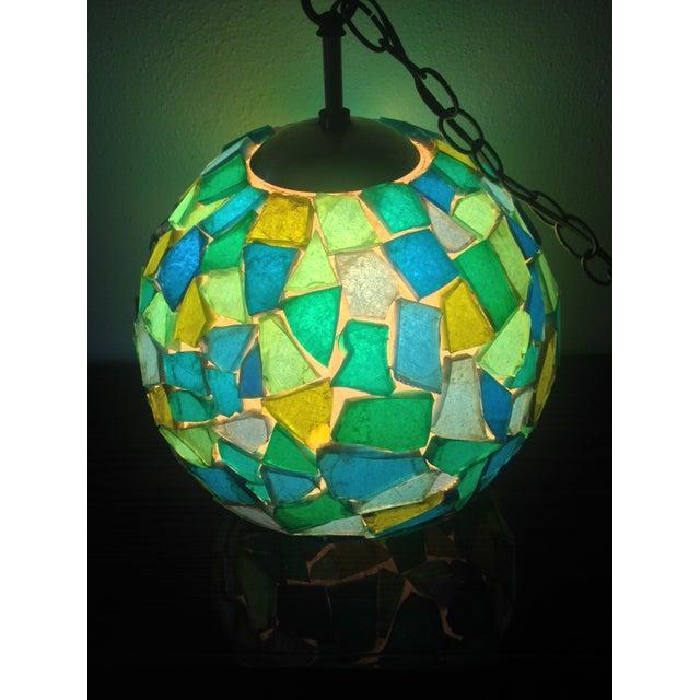 1960s Mid-Century Mod Mosiac Pendant Light - Image 7 of 8