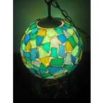Image of 1960s Mid-Century Mod Mosiac Pendant Light