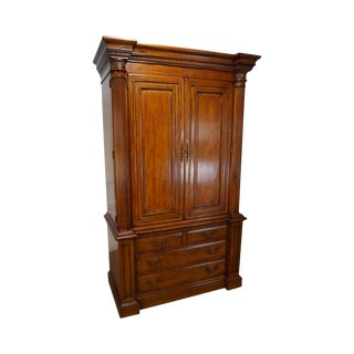 Hickory Column Front TV Cabinet Armoire
