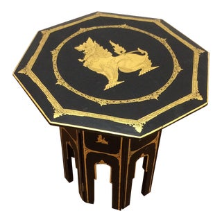 Lacquered & Gold Embellished Occasional Table