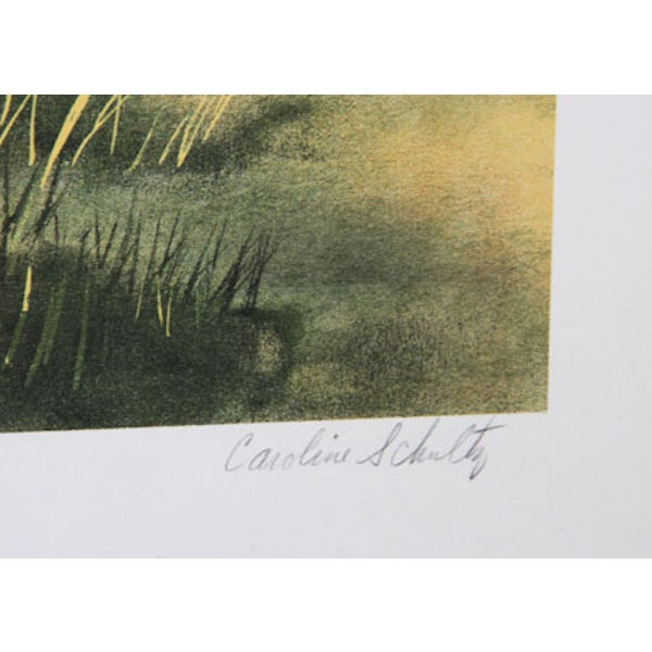"C. Schultz, ""Challenge at Amboseli,"" Lithograph - Image 2 of 2"