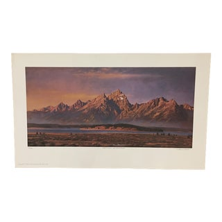 "Howard Koslow ""August Moon - The Grand Tetons"" Lithograph"