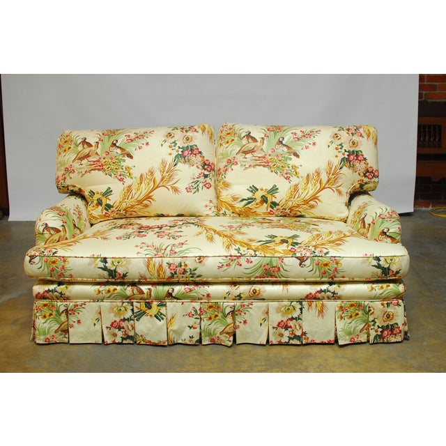 Brunschwig & Fils French Upholstered Toile Sofa - Image 2 of 10